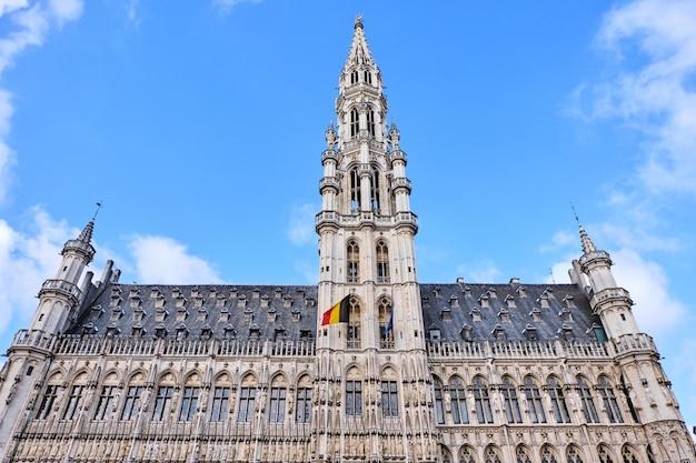 Stadhuis op de grote markt van brussel, belgië
