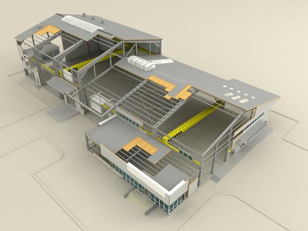 Stadia van het bouwen op de sneltechnologische panelen