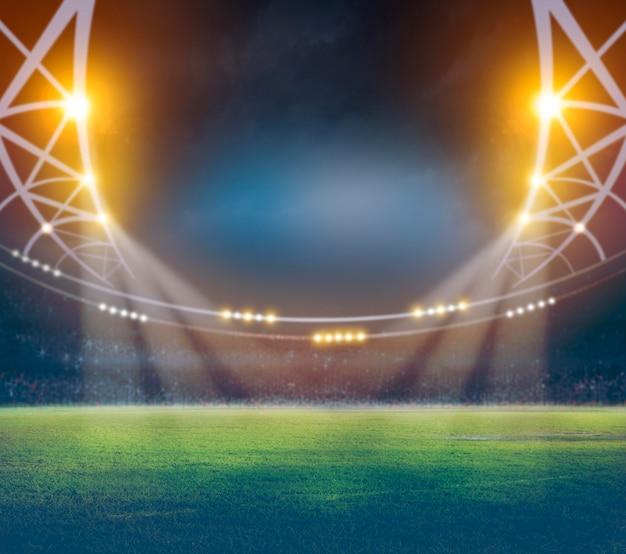 Stadion in 3d lichten en flitsen.
