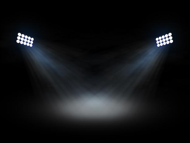 Stadion theater spotlights