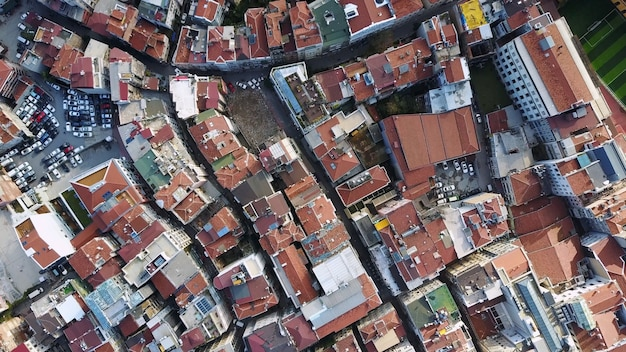 Stadsgezicht istanbul, turkije. luchtfoto