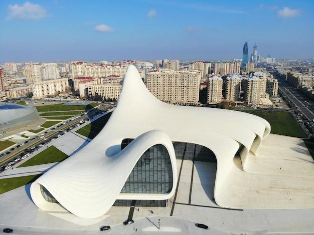 Stadsgezicht van baku, hoofdstad van azerbeidzjan