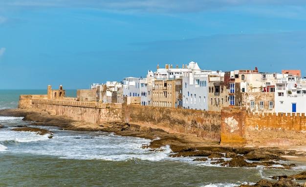 Stadsgezicht van essaouira, een werelderfgoed in marokko. noord afrika