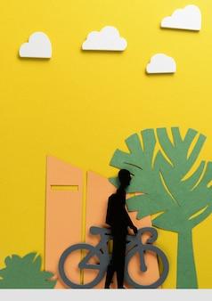 Stadsvervoerconcept met fiets