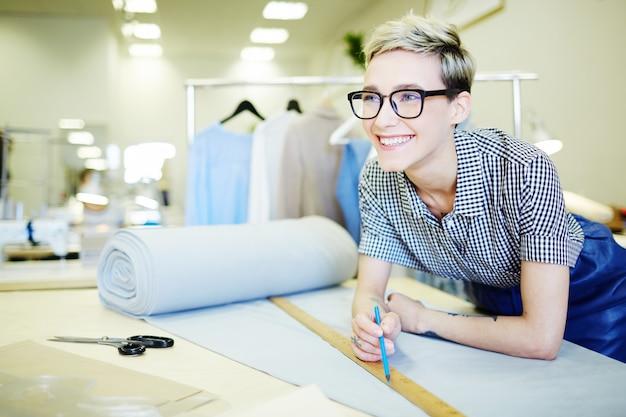 Staf van textielafdeling