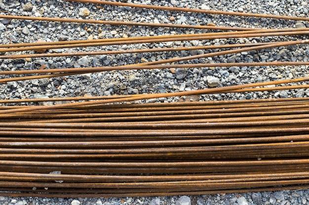 Stalen balk voor betonconstructies, mortel in structurele basis, infrastructuur
