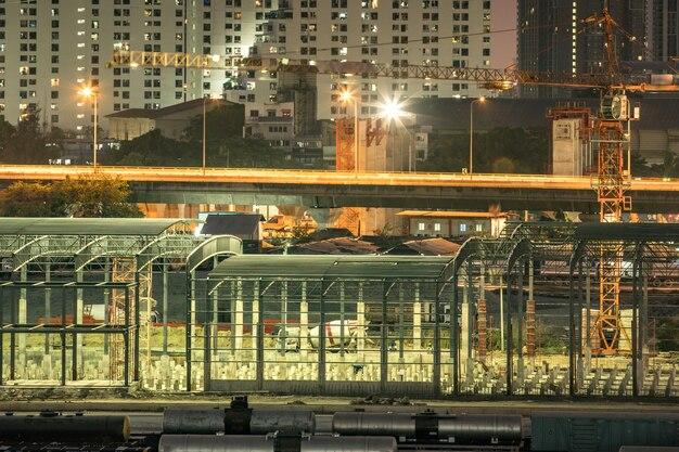 Stalen constructie is in aanbouw