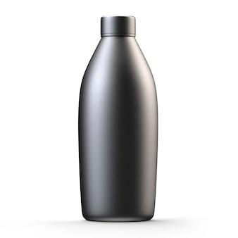 Stalen fles voor water geïsoleerd op een witte achtergrond realistische 3d render van metalen fles voor drankjes