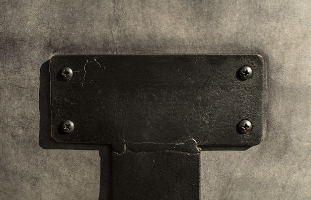 Stalen lege lege plakkaat textuur