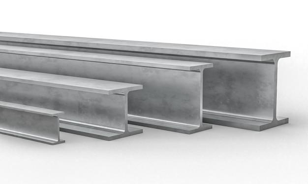 Stalen metalen balk 3d
