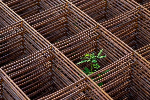 Stalen rooster voor constructie in bouwwerkzaamheden