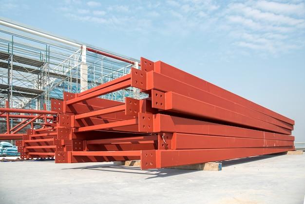 Stalen truss in bouwdaksite