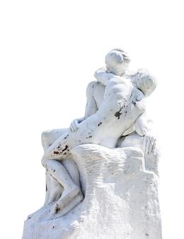 Standbeeld met wit. uitknippad