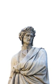 Standbeeld van dante alighieri in florence