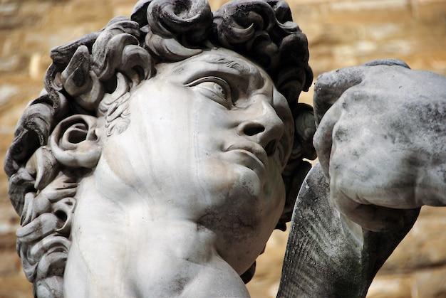 Standbeeld van de david van michelangelo in florence