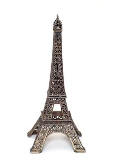 Standbeeld van de eiffeltoren geïsoleerd