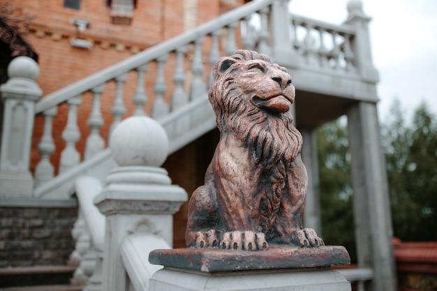 Standbeeld van een leeuw