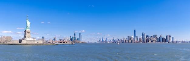 Standbeeld van liberty manhattan new york