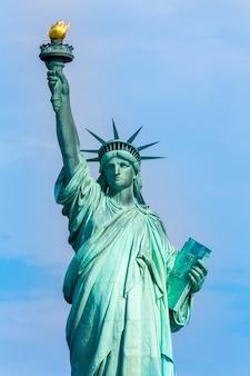 Standbeeld van liberty new york american symbol usa