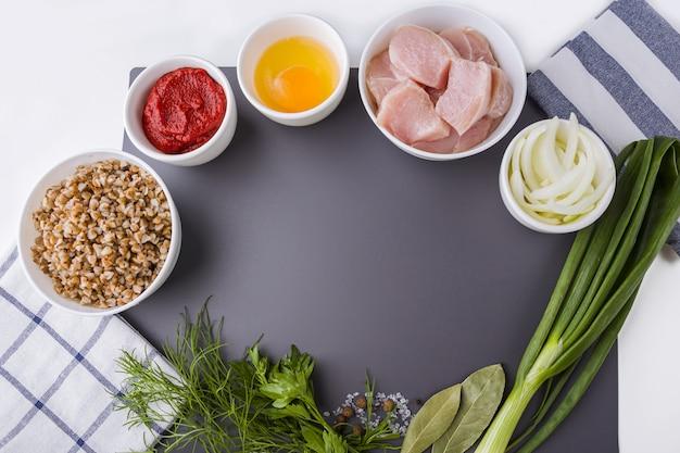 Stap voor stap recept. koken boekweitkoteletten of gehaktballen