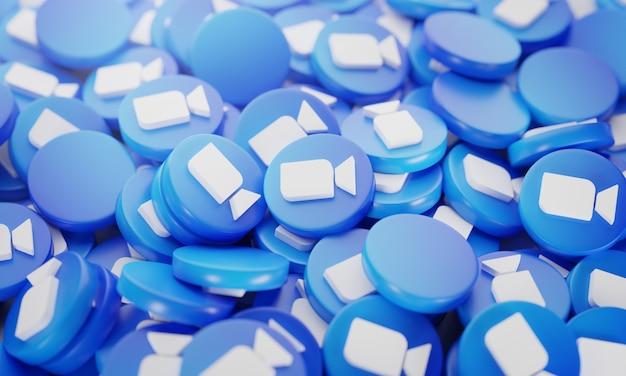 Stapel 3d zoom logo's