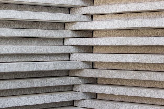 Stapel betonlagen - bouwmaterialen.