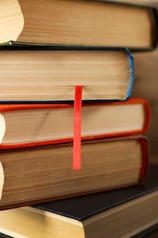 Stapel boeken, close-up