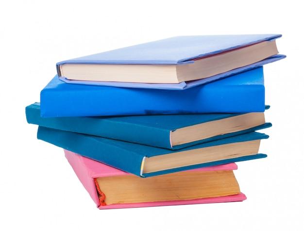 Stapel boeken geïsoleerd