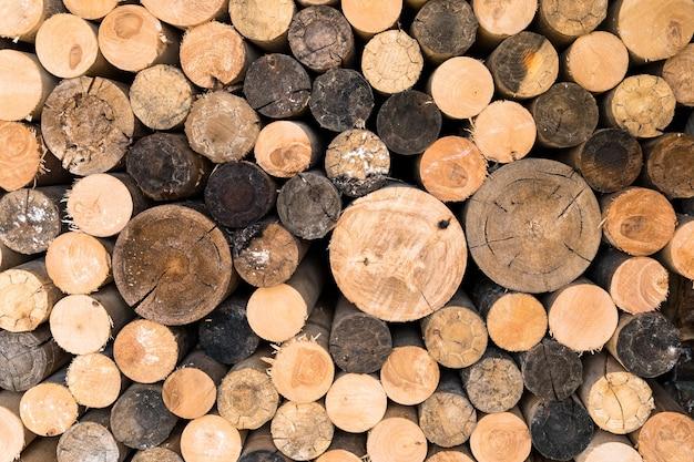 Stapel brandhout, esp en berk