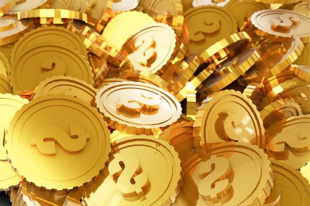 Stapel gouden munten