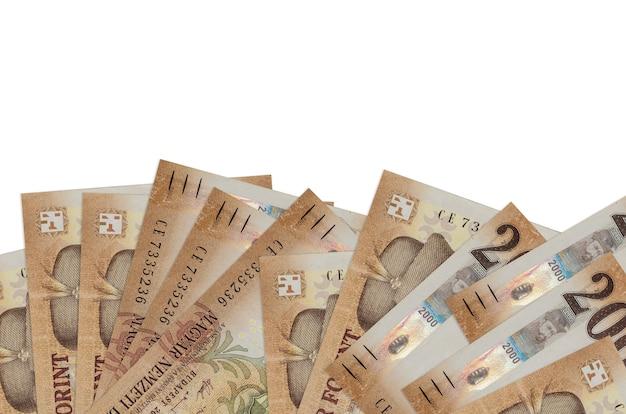Stapel hongaarse forintbiljetten