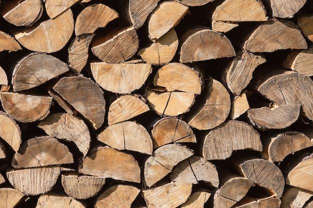 Stapel hout logboeken