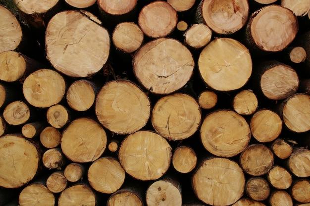 Stapel houtblokken