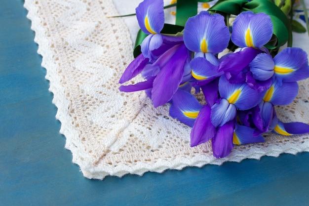 Stapel iris bloemen