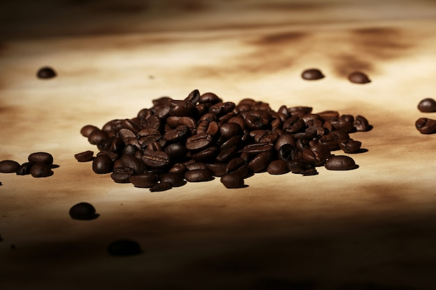 Stapel koffiebonen