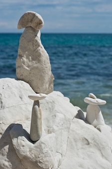 Stapel strand stenen