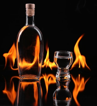 Stapel tequila in brand