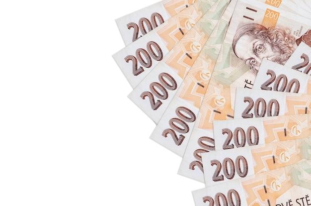 Stapel tsjechische korunbankbiljetten