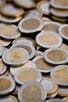 Stapel van euromunten