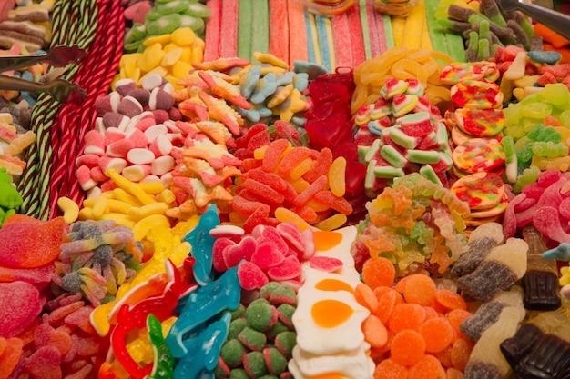 Stapel van kleurrijke gumdrops