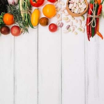 Stapel van verschillende groenten