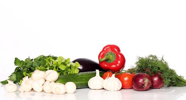 Stapel verse groenten