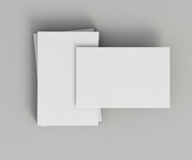 Stapels kopie ruimte visitekaartjes bovenaanzicht