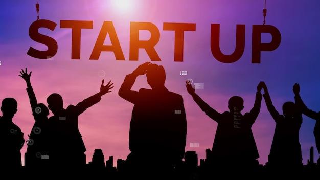 Start-up bedrijf van creatieve mensen conceptueel