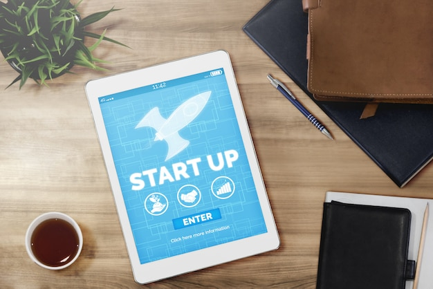 Startbedrijf van creatieve mensen