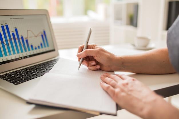 Statistieken op het werk analyseren