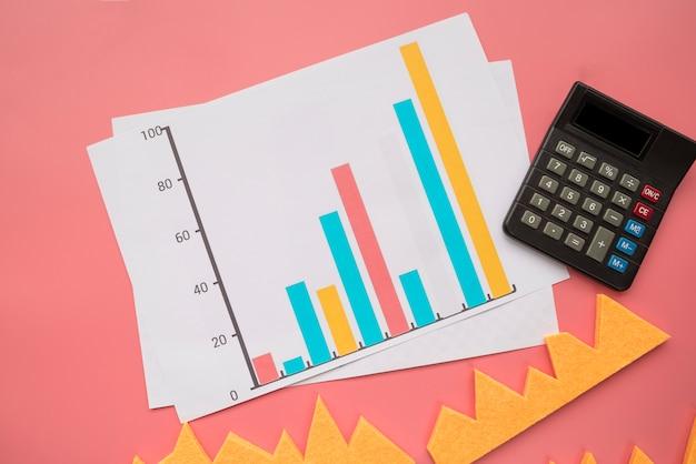 Statistiekgrafiek met calculator