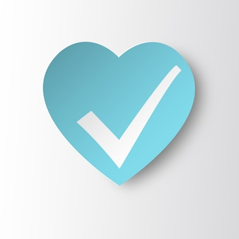 Statuspictogram gezond hart