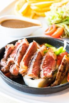 Steak rundvlees en vlees