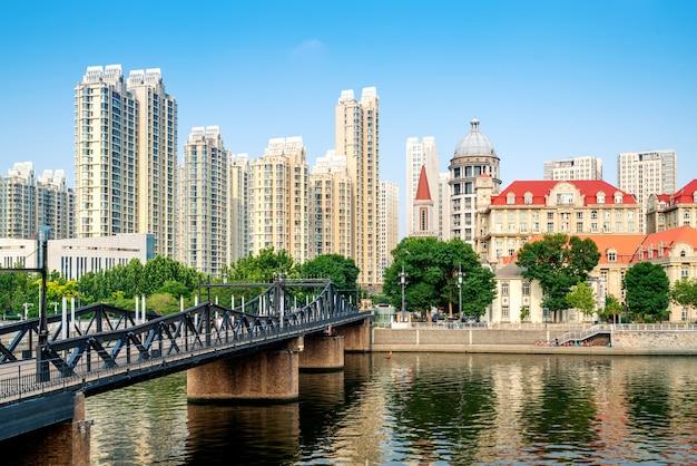 Stedelijk architectonisch landschap in tianjin